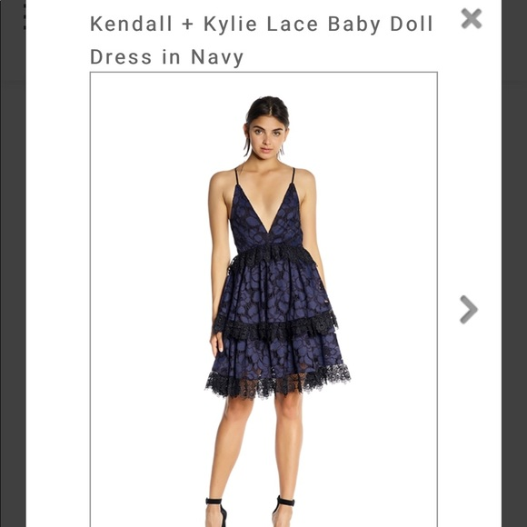 e5cacc045b9bf Kendall & Kylie Dresses | Kendal And Kylie Lace Babydoll Dress Nwt ...